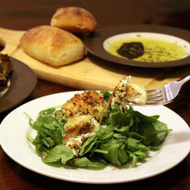 Herb-Crusted Goat Cheese Rounds