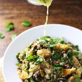 Moroccan Salad with Cilantro Orange Dressing