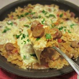 Lightened Up Italian Chicken Sausage Pasta Skillet