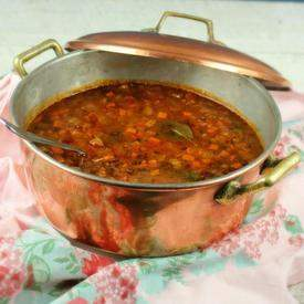 French Tomato Lentil Soup