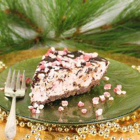 Pink Peppermint Chip Ice Cream Pie