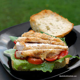 Parmesan Chicken on Asiago Ciabatta