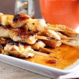 Chicken and Pineapple Skewers made with Honey Chipotle Glaze