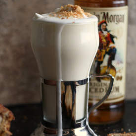 Boozy Coconut White Hot Chocolate