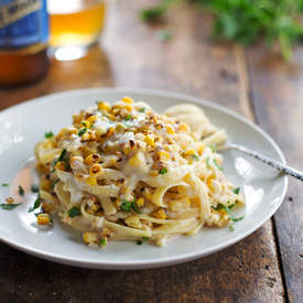 Healthy Chipotle Sweet Corn Fettuccine