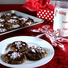 Chocolate Fudge Peppermint Cookies