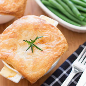 chicken, bacon and leek pies