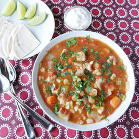 Spicy Pork and Hominy Stew