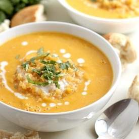 Smoky coconut and butternut soup