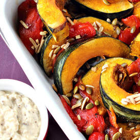 Kabocha Squash with Burnt Eggplant Sauce
