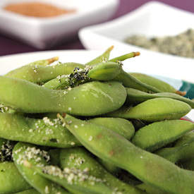 Edamame with Flavoured Salt, Three Ways