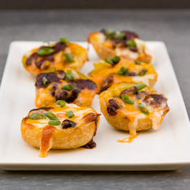 Baked Mexican Stuffed Potato Skins