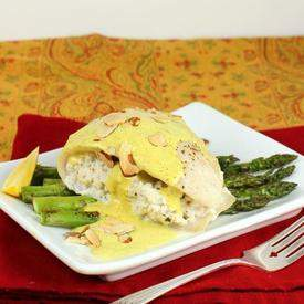 Crab Stuffed Tilapia with Asparagus