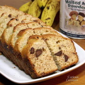 Malted Chocolate Chip Banana Bread