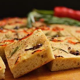 Chili, Olive and Rosemary Focaccia