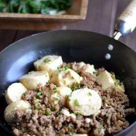 Egg Tofu with Ground Pork