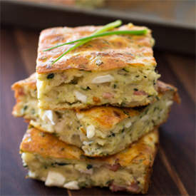 zucchini and bacon slice