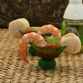 Asian Shrimp & Scallop Cocktail with Sweet Chili S