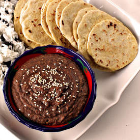 Mole and Corn Flour Tortillas