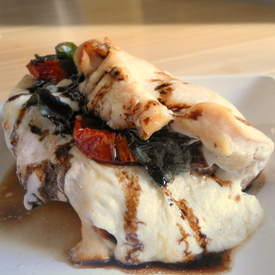 Caprese Stuffed Chicken Breast with Balsamic Reducn