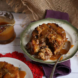 Orange-scented Bread Pudding w/ Hard Sauce