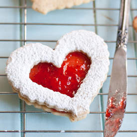 Strawberry Lemonade Linzer Cookies