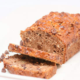 Banana Bread with Chocolate & Coconut