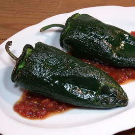 Black Bean and Rice Stuffed Poblanos