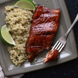 Burgundy-Balsamic Glazed Salmon