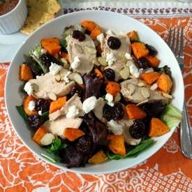 Chicken and Sweet Potato Cherry Salad