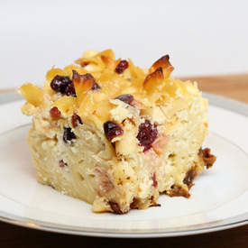Sweet Noodle Kugel with Dried Fruit