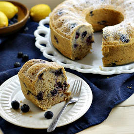 Mom's Favorite Moist Lemon Blueberry Cake