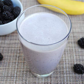 Blackberry-Banana Protein Shake