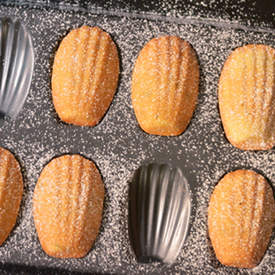 Olive Oil, Rosemary and Lemon French Madeleines