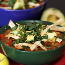 Fast and Easy Tortilla Soup
