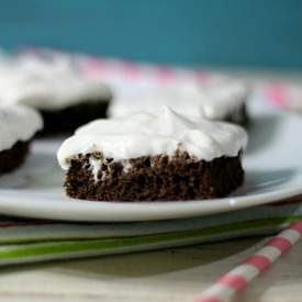 Root Beer Float Brownies