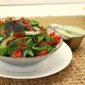BLT Salad with Avocado Ranch