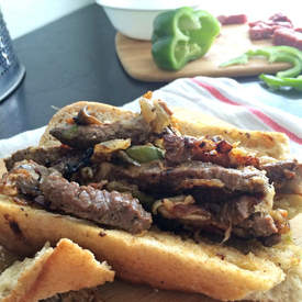 Baguette Cheesesteaks