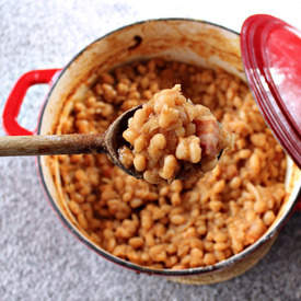 Quebec Maple Baked Beans