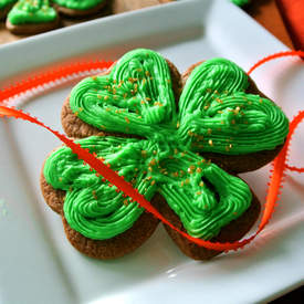 Chocolate Shamrock Sugar Cookies