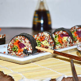 Rainbow Vegetable Sushi Rolls