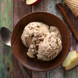 Apple Butter Rummy Pecan Ice Cream