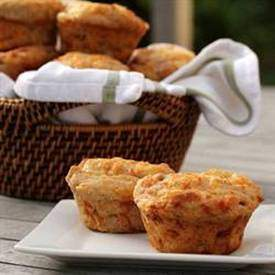 Ham and Cheese Rye Muffins