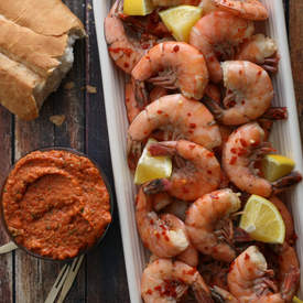 Chilled Shrimp with Romesco Sauce