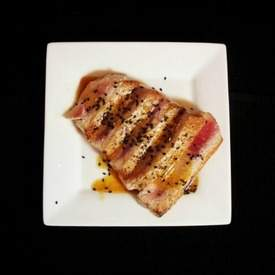 Pan Seared Tuna with Miso Dressing