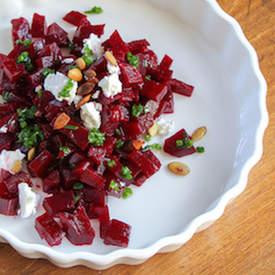 Pickled Beets Salad with Chive Oil