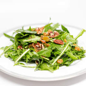 Wilted Dandelion Greens Salad