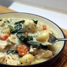 Cream Chicken Gnocci Soup
