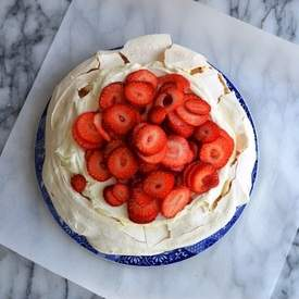 Strawberry Pavlova with Ricotta Cream