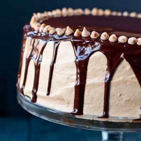 Chocolate PB Brownie Cake